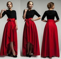 Wholesale cheap 2015 Red Taffeta High Low Skirts online, A-Line - Find best Elegant Red Taffeta High Low Skirts For Woman 2015 New Fashion Waist Belt Floor Length Girls Long Skirts Custom Made Formal Party Dresses at discount prices from Chinese Skirts supplier - sexypromdress on DHgate.com.
