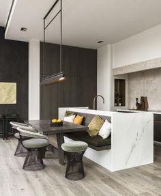 Kitchen Room Design, Modern Kitchen Design, Dining Room Design, Home Decor Kitchen, Interior Design Kitchen, Kitchen Ideas, Interior Modern, Modern Condo, Modern Interiors