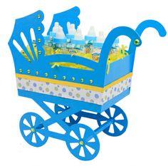 Carreola de madera para Baby Shower, ideal para una barra de dulces