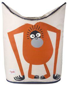 3 Sprouts Tvättkorg Orangutang | Barnrummet Förvaring | Jollyroom
