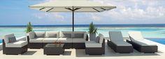Uduka Daly 9 Outdoor Sectional Patio Furniture Sofa Set