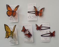 Hair pins, clips , earrings from recycled plastic bottles