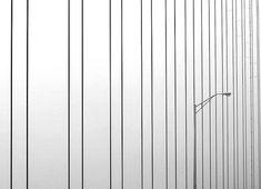 Bridge to Nowhere - Mackinac Bridge in Thanksgiving Blizzard; cable study.