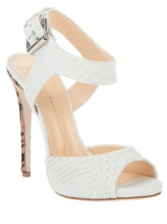 7f25a2e6dab36b White python skin open toe sandals from Giuseppe Zanotti featuring an open  toe