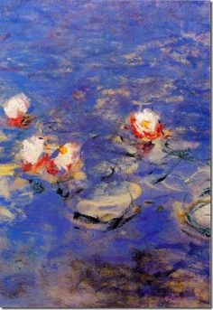 Claude Monet, blue water lilies on ArtStack Claude Monet, Landscape Art, Landscape Paintings, Artist Monet, Monet Water Lilies, Monet Paintings, Art Japonais, Impressionist Paintings, Wassily Kandinsky