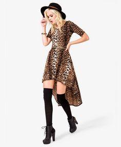 Leopard High Low Dress
