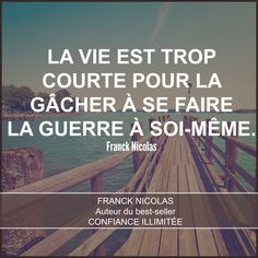 trop courte pour... Jolie Phrase, Coaching, Positive Attitude, New Life, Quotations, Positivity, Motivation, Phrases, Inspiration