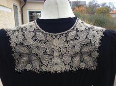 Swedish floral guipure collar