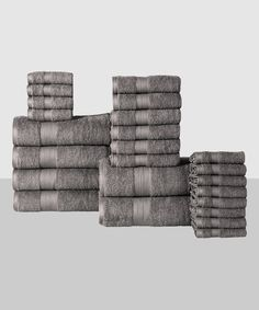Affinity Linens Platinum Plush Cotton 24-Piece Bath Towel Set | zulily