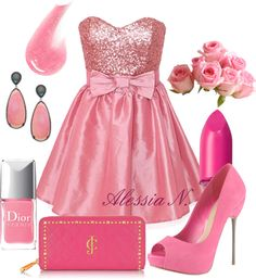 """""""Pink girl"""" by alessia-fashion on Polyvore"""
