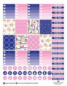 Printable Tangled Planner Stickers for use with