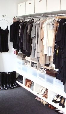 Let's be realistic people, no ones closet looks like this, and if it does you're crazy.