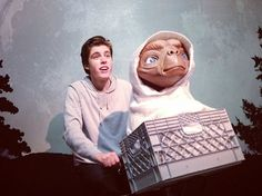 Sam woolf and E.T How cute