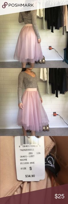 Tulle skirt Pink tulle skirt. Can be paired with any shirt and heels to give more of a formal look. I bought it to wear to a wedding but didn't end up attending.   🔸Never been worn 🏷 🔸10% discount when you buy 2 or more items.   🔹No offers  🔹No trades! Skirts A-Line or Full