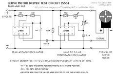 Servo Motor Test Circuit