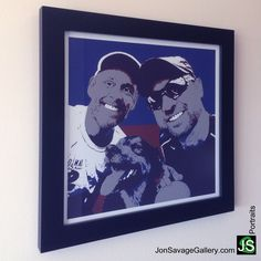 Here's one of our customer's artwork for gift. Order your own a personalized portrait today at http://jonsavagegallery.com/commissions/