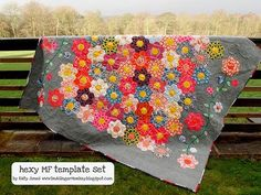 Hexy quilt from Bari J - just found her blog - love it all!