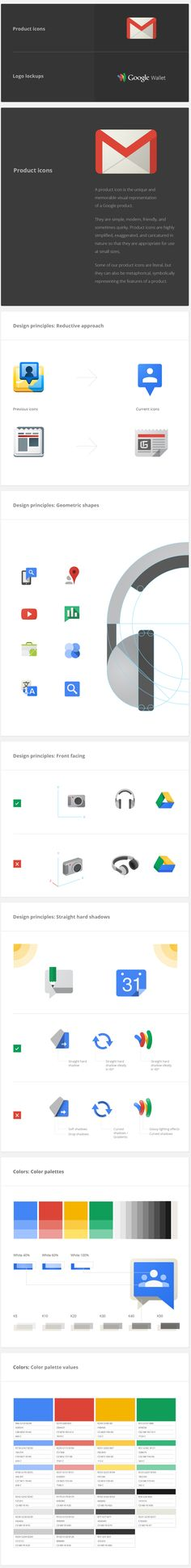 Google Visual Assets Guidelines - Part 1 by Roger Oddone, via Behance