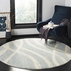 Willa Arlo Interiors Marlee Cream/Slate Blue Area Rug Rug Size: Runner x Lodge Style, Round Area Rugs, Blue Area, Living Room Bedroom, Master Bedroom, Online Home Decor Stores, Beige Area Rugs, Colorful Rugs, Rug Size