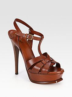 ysl shoes brown sandals 2013 - Google Search