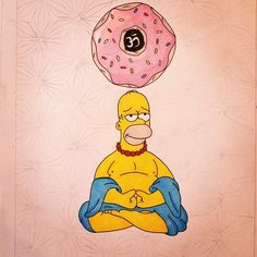 Discovered by The Simpsons. Find images and videos about peace, donuts and simpsons on We Heart It - the app to get lost in what you love. Cartoon Shows, Cartoon Characters, Background Cool, Simpsons Art, Simpsons Tattoo, Meditation Art, Meditation Images, Buddha, Alien Art