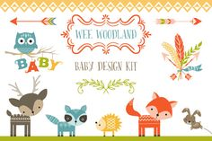 Check out Wee Woodland Baby Design Kit by Cocoa Mint on Creative Market