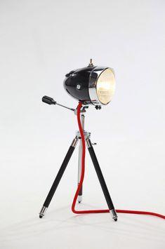 Lampen gemaakt van oude bromfiets koplampen « EYEspired