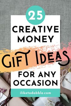 Browse this list of creative money gift ideas from dollar origami to gift baskets and surprises to gift for any occasion #giftideas #moneygiftideas #giftguide