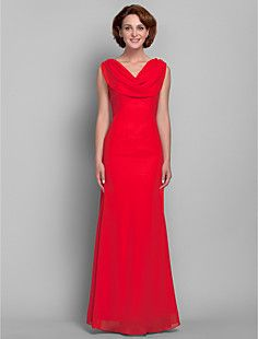 Trumpet/Mermaid V-neck Chiffon Mother of the Bride Dress - love the front neck but not the v-neck in back ---light in the box