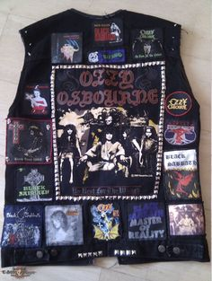 Tribute battle jacket to Ozzy and Black Sabbath | TShirtSlayer TShirt and BattleJacket Gallery
