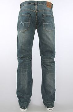LRG Men's The Linden TS Jeans in Medium Indigo Wash, Denim