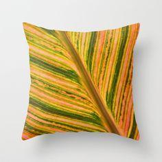 Tropical Leaf Throw Pillow