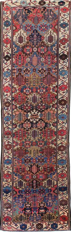 Persian Bakhtiari runner, 3'6 x 11'6, Circa 1925, Landry and Arcari gallery