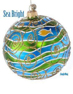 Sea Bright -  European glass Christmas ornament by JingleNog