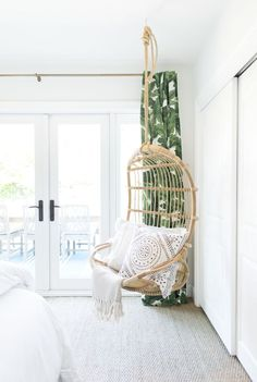 gray malin bedroom redesign after with serena u0026 lily hanging chair