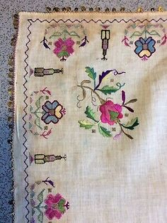 ANTIQUE TURKISH OTTOMAN Embroidery Metal Thread &silk Textile - $152.81 | PicClick Gold Embroidery, Hand Embroidery Designs, Ottoman Hands, Textiles, Old Antiques, Textile Art, Textile Design, Handmade Silver, Designer