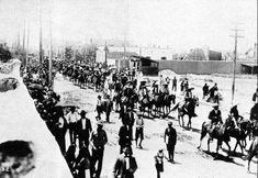Tropas de Villa en Cd Juárez 1911