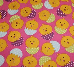 Easter Fabric Easter Chicks Design Brother by EmbellishByAndrea, $4.50
