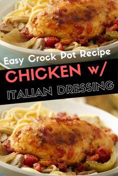 easy chicken crock pot recipes italian dressing