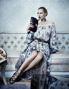 Kate Moss für Ferragamo, ob sie sich erkennt?