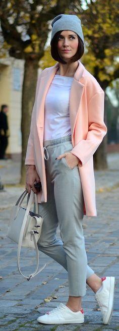Grey Knitted Beanie by Daisyline