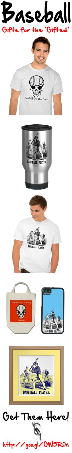 Baseball Gifts for the 'Gifted'.  Vintage and zany baseball sporting presents. #baseball #sport #gifts #clothing #bags #iPhone #cases http://www.zazzle.com/baseball+thedigitalconsultant+gifts?st=date_created . Click on the banner