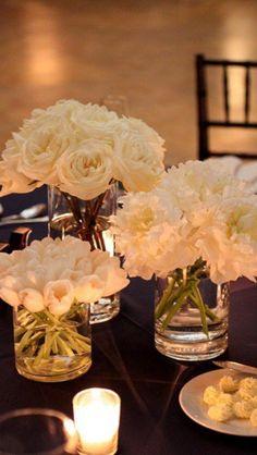[Bodas de Casamento] Amazing Ideas To Celebrate ALL Them … – My Wedding Dream White Flower Centerpieces, Simple Centerpieces, Centerpiece Ideas, Table Flowers, Cylinder Centerpieces, Wedding Table, Our Wedding, Dream Wedding, Trendy Wedding