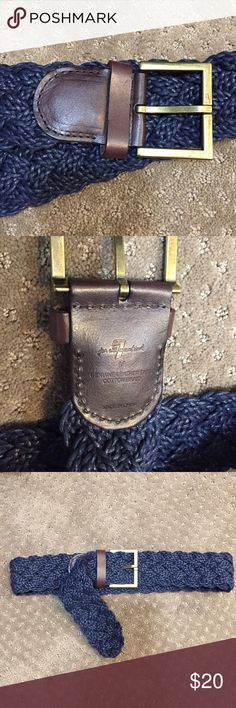 NWOT  7 for all Mankind Braided Belt NWOT  7 for all Mankind Braided Belt. Navy with brown leather. Size Medium - 41 inches long. New condition, Never worn. 7 For All Mankind Accessories Belts