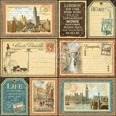 Cityscapes Journaling & Ephemera Cards Horizontal - Front #graphic45 #Sneakpeeks