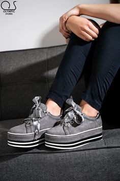 #FlatformSneakers #Grey #Blue #Black  👉Κωδ:3919 👉35.99€ 🚛Δωρεάν έξοδα αποστολής 💲Δωρεάν η πρώτη  #ΟlympicStores #OSHOESgr #AutumnCollection #oshoesSUPEROFFER #GetEmAll #WOMANSTYLE #STYLESHOES #NEWSHOES #fashionweek #moda #autumn2018 Flatform Sneakers, Vans Authentic, Boat Shoes, How To Wear, Fashion, Moda, Fashion Styles, Moccasins