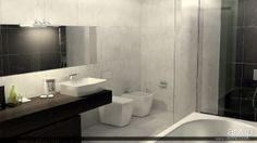 Черно-белый санузел: интерьер, квартира, дом, санузел, ванная, туалет, неоклассика, 0 - 10 м2 #interiordesign #apartment #house #wc #bathroom #toilet #neoclassicism #010m2 arXip.com