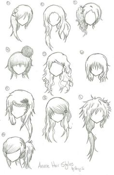 More manga/anime hair part 2.