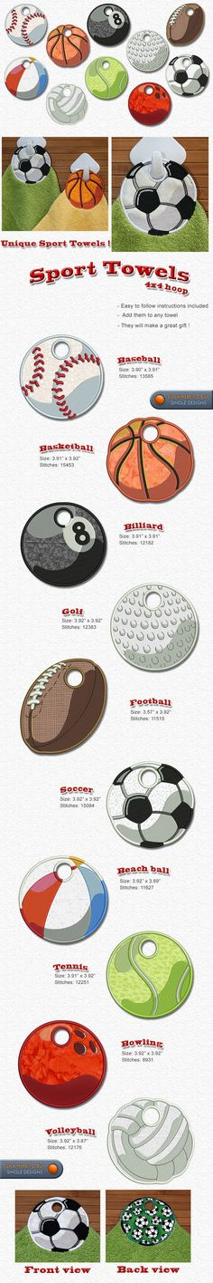 Sports, baseball, football, basketball, bowling, tennis, Embroidery Designs Free Embroidery Design Patterns Applique