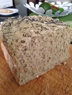 Wholesome Buckwheat Bread (Dairy Free, Sugar free, Gluten Free) Ingredients 2 cups of buckwheat flour 1 cup of arrowroot flour 4 tablespoons...